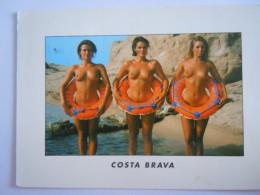 CPM Espagne Costa Brava Femmes Seins Nus Form 12 X 17 Cm Circulée 1996 - Spain