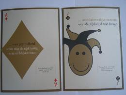 2008 Nieuwjaarwensen In De Vorm Van 5 Speelkaarten Van Karine & Fernand Huts Katoen Natie Form 14,5 X 20 Cm - Playing Cards (classic)