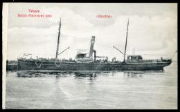 1910. Cca. CARONIA Kivándorló Hajó,  Triest, Régi Képeslap  /  Ca 1910 CARONIA Migrant Ship Trieste Vintage Pic. P.card - Hungary