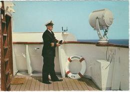 M/S 'Knudshoved' - Rodby Farege - Puttgarden : Officer On Deck - Vogelfluglinie / Bee-line  - (DK) - Paquebots
