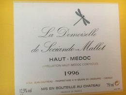 8317 - La Demoiselle De Sociandre-Mallet 1996 Haut-Médoc - Bordeaux