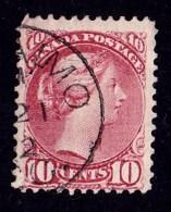Canada 1876 Queen Victoria 10c Pale Lilac-magenta Used  SG 87 - Fault - 1851-1902 Reign Of Victoria