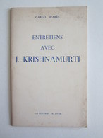 Carlo Suarès Entretiens Avec Jiddo Krishnamurti Madanapalle Inde Ojai - Tourism Brochures