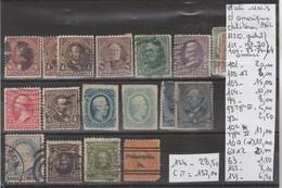 LOT DE TIMBRES DES ETATS-UNIS  OBLITEREES Nr VOIR SUR PAPIER AVEC TIMBRES COTE 157.00€ - 1861-65 Etats Confédérés