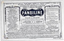 Buvard Ancien Produits Pharmaceutiques : PANBILINE -années 20 -LABORATOIRE PANBILINE ANNONAY (Ardèche)imp ROUSTAN Roanne - Chemist's