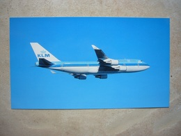 Avion / Airplane / KLM / Boeiing B 747-400 / Airline Issue / Size: 13X23cm - Aérodromes