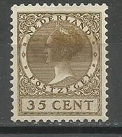 Netherlands,Queen Wilhelmina 35c 1924/5.,MH - 1891-1948 (Wilhelmine)