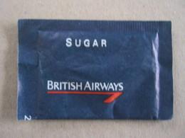 SUGAR FULL BUSTINA ZUCCHERO PIENA - 1 PZ. BRITISH AIRWAYS AEREO AEROLINEAS AIRLINES AIR AIRLINE GRAN BRETAGNA - Sugars