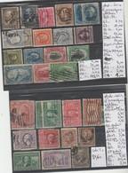 LOT DE TIMBRES DES ETATS-UNIS  OBLITEREES Nr VOIR SUR PAPIER AVEC TIMBRES COTE 237.10€ - 1861-65 Etats Confédérés