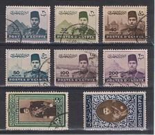 EGITTO:  1939/45  FAROUK  E  VISTE  -  S. CPL. 8  VAL. US. -  YV/TELL. 213/19 - Egypt