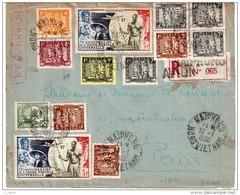 """INDOCHINE : LETTRE REC. DE """" HAIPHONG """" . NORD VIETNAM . 1950 . POUR PARIS . - Indochina (1889-1945)"""