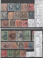LOT DE TIMBRES DES ETATS-UNIS  OBLITEREES Nr VOIR SUR PAPIER AVEC TIMBRES COTE 241.10€ - 1861-65 Etats Confédérés
