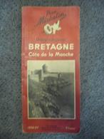 Carte MICHELIN FRANCE BRETAGNE Côte De La Manche Guide Régional Touristique 1936-1937 - 182 Pages - Roadmaps