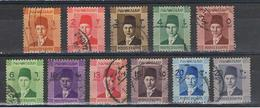EGITTO:  1937/44  FAROUK  -  S. CPL. 11  VAL. US. -  YV/TELL. 187/95 A - Egypt