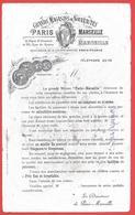 Buvard 1900 Utilisé - GRANDS MAGASINS NOUVEAUTES - PARIS MARSEILLE - (rue ROME -St FERREOL) Litho QUINSON - Unclassified