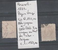 LOT DE TIMBRES DU BRESIL OBLITEREES Nr 50-55 SIGNEE COTE 157 0€ - Brésil