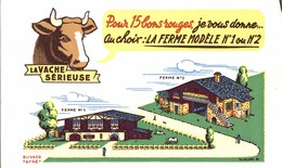 BUVARD LA VACHE SERIEUSE LA FERME MODELE - Dairy