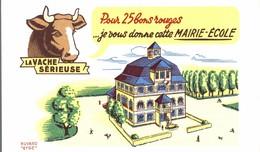BUVARD LA VACHE SERIEUSE MAIRIE ECOLE - Dairy