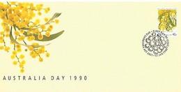 AUSTRALIE FDC Acacia 1990 - Symbolisme Maçonnique - Franc-Maçonnerie