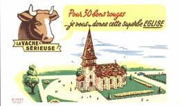 BUVARD LA VACHE SERIEUSE EGLISE - Dairy