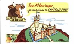 BUVARD LA VACHE SERIEUSE CHATEAU FORT - Dairy