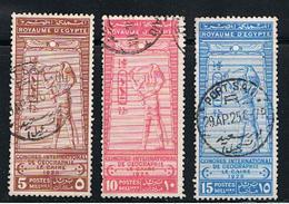 EGITTO:  1925  CONGRESSO  GEOGRAFIA  -  S. CPL. 3  VAL. US. -  YV/TELL. 94/96 - Egypt