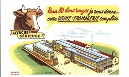 BUVARD LA VACHE SERIEUSE USINE FROMAGERIE - Dairy