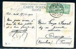 Egypte - Affranchissement De Port Saïd Sur Carte Postale En 1910 Pour La France - Ref M24 - Égypte