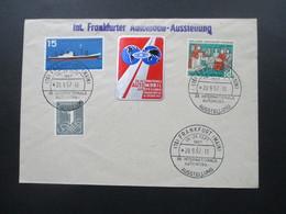 BRD 1957 Blankobrief SST Int. Frankfurter  Automobil Ausstellung Mit Vignette. Sammlerbeleg - [7] Federal Republic