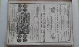 PUB 1889 - CIMENT Rue Cannebière Marseille, Ports Cassis Et Marseille, Ciment Vassy à St-Jean-Thisy 89 Et à Venarey 21 - Publicités