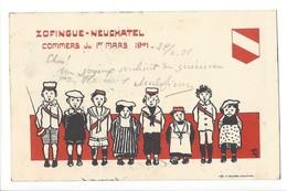19842 - Carte Etudiant Zofingue Neuchâtel Commers Du 1er Mars 1901 (attention Pli Coin Supérieur) - AG Argovie