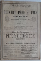 PUB 1889 - Vins De Champagne, Ruinart Père & Fils, PIPER-Heidsieck, Duc Montebello Mareuil/Ay 51, B & E PERRIER Chalons/ - Werbung