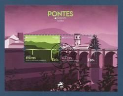 Portugal / Azoren  2018 , EUROPA CEPT Pontes  - Block - Gestempelt / Used / (o) - 2018
