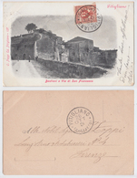 Pitigliano - Bastioni E Via Di San Francesco, Viaggiata 1901 - Autres Villes