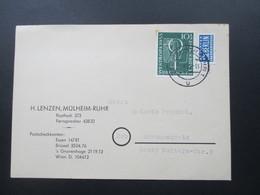 BRD Postkarte Michel Nr. 217 EF H. Lenzen, Mühlheim Ruhr. - [7] Federal Republic