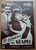 """Altes IFB-Filmprogramm - SOPHIA LOREN In """"Es Begann In Neapel"""" Mit Clark Gable, Vittorio De Sica ... - 180981 - Magazines"""