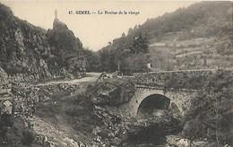 CARTE POSTALE ORIGINALE ANCIENNE : GIMEL LE ROCHER DE LA VIERGE CORREZE (19) - Autres Communes