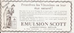 Buvard Ancien Produits Pharmaceutiques : LABORATOIRE SECLO - Courbevoie - EMULSION SCOTT (variante) Prescrivez Les Vitam - Chemist's