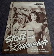 """Altes IFB-Filmprogramm - SOPHIA LOREN & FRANK SINATRA & CARY GRANT In """"Stolz Und Leidenschaft"""" - 181154 - Magazines"""