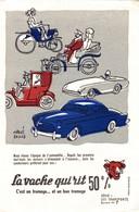Buvard LA VACHE QUI RIT  LES TRANSPORTS   L EPOQUE DE L AUTOMOBILE - Wash & Clean