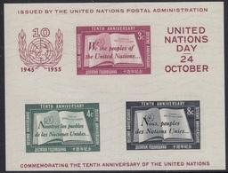 UNITED NATIONS New York Block 1,unused - New York – UN Headquarters