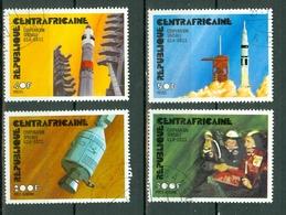 Centrafrique 1976 Yv 258/59 + PA 141/42 Obl.  Coopération Spatiale USA - USSR - Centrafricaine (République)