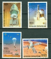 Centrafrique 1976 Yv 265/66 + PA 153/54 Obl. Opération Viking Sur Mars - Centrafricaine (République)