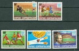 Centrafrique 1977 Yv 315/19 Obl. Argentina 78 - Centrafricaine (République)