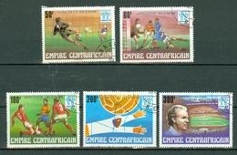 Centrafrique 1978 Yv 368/72 Obl. Argentina 78 - Vainqueur : Argentine - Centrafricaine (République)