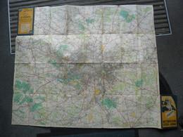 Carte CYCLISTE MICHELIN De 1931 - BIBENDUM FRANCE 50 Km Autour De Paris N° 120 Pub Pneu Vélo Le Meilleur ! Cyclisme - Roadmaps