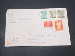 YOUGOSLAVIE - Enveloppe En Recommandé De Osiek En 1945 , Affranchissement Plaisant - L 17241 - 1945-1992 Sozialistische Föderative Republik Jugoslawien