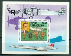 Centrafrique 1977 Yv  Bl 19 Obl. Charles Lindbergh - Centrafricaine (République)