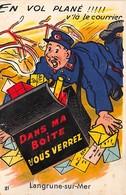 LANGRUNE SUR MER - En Vol Plané!! V'là Le Courrier - Carte à Système - Très Bon état - France