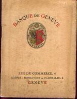 SUISSE « Banque De GENÈVE » - Livret De 20 Pages Avec Photos + Diptyque Sur La Ville - Switzerland